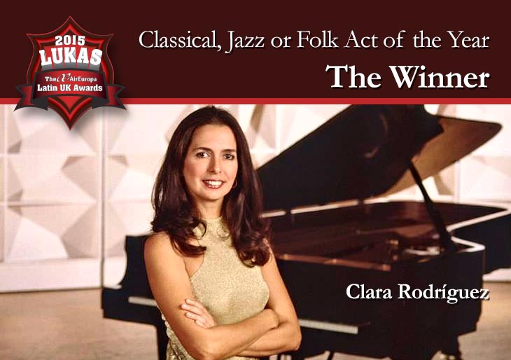 Clara Rodríguez ganadora del LUKAS 2015 en la Categoría Música Clásica
