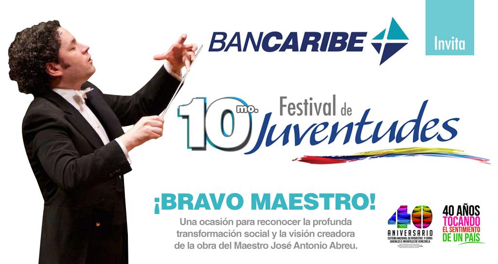 """Festival de Juventudes """"¡Bravo Maestro!"""" rinde homenaje a José Antonio Abreu"""