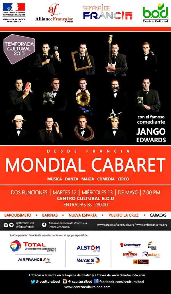 El gran espectáculo Mondial Cabaret de gira por Venezuela