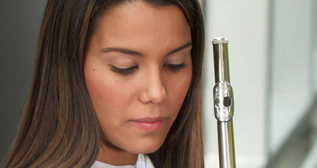 La flauta de María Gabriela Núñez Loaiza en concierto