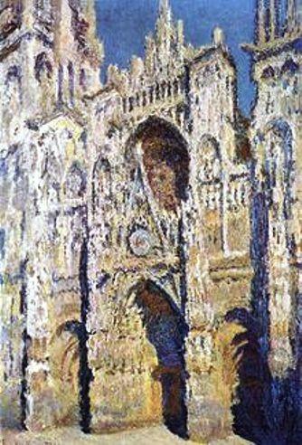 """Monet: La catedral de Rouen, inspiradora de """"La Catedral Sumergida"""" de Debussy."""
