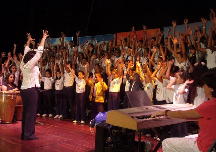 Schola Juvenil del estado Trujillo de gira por Caracas