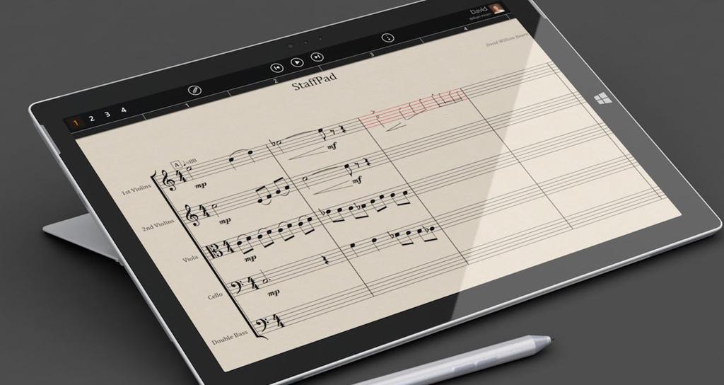 Staffpad: escribe partituras a mano y transfórmalas en MIDI