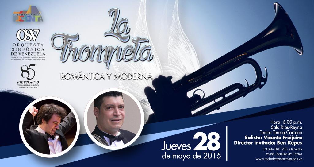 Una trompeta romántica y moderna sonará con la Sinfónica de Venezuela