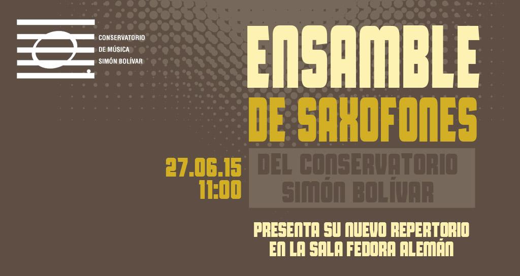 Ensamble de Saxofones del Conservatorio Simón Bolívar presenta su nuevo repertorio
