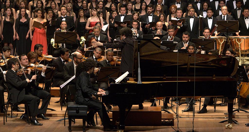 Sinfónica Simón Bolívar y Filarmónica de Bogotá ofrecieron un testimonio de unión