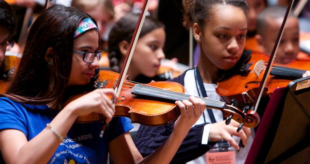 Niños del Bronx y de Caracas preparan un concierto lleno de energía y optimismo