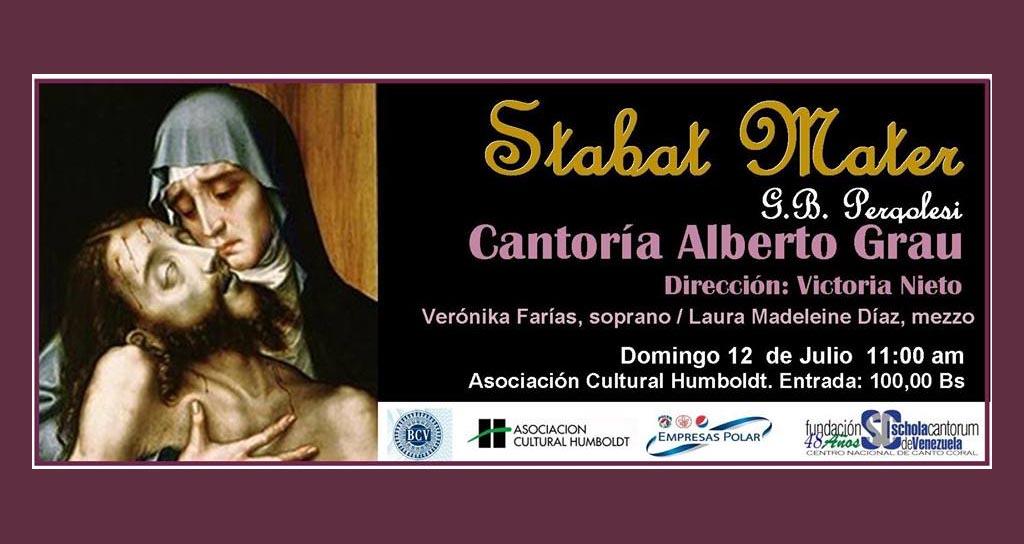 Cantoría Alberto Grau presenta Stabat Mater de Pergolesi
