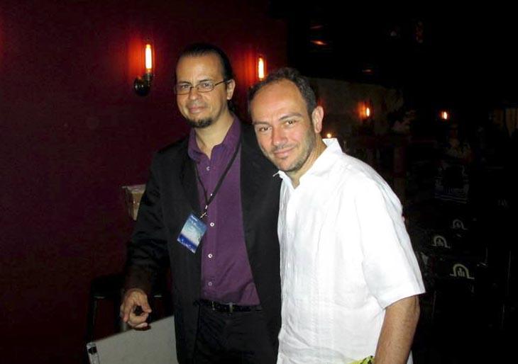 Luis Ernesto Gómez junto a Carlos Sánchez Gutiérrez. Foto: Richard Durán Barney.