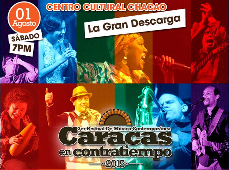 La Gran Descarga de Caracas en Contratiempo estremecerá al Teatro Chacao