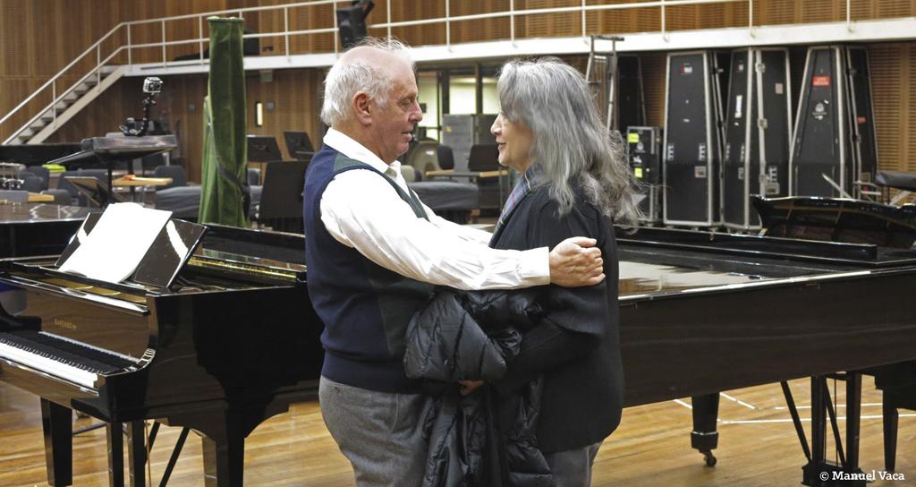 El Colón transmitirá gratis el concierto de Argerich y Barenboim