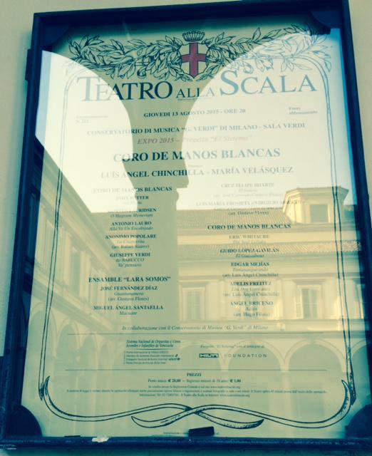 Cartel Teatro La Scala, Coro de Manos Blancas