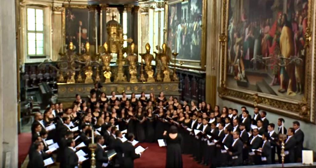 Video Coro Nacional Juvenil Simón Bolívar de Venezuela, Chiesa di S.Marco, 23-08-2015