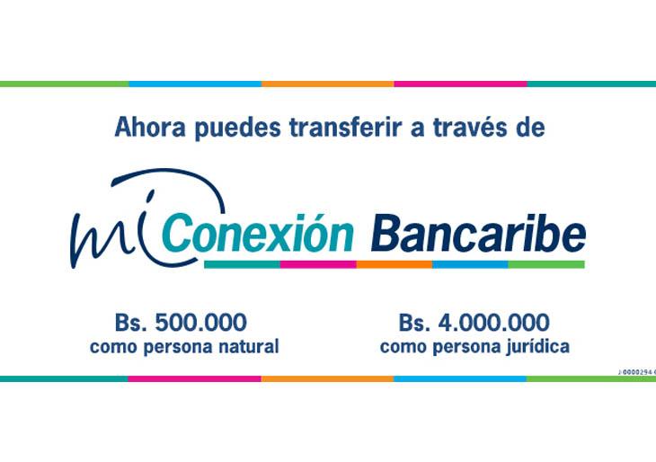 Nuevos límites de transferencia por Mi Conexión Bancaribe