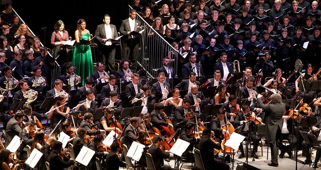 La Sinfónica Simón Bolívar abogó por la música para la acción social