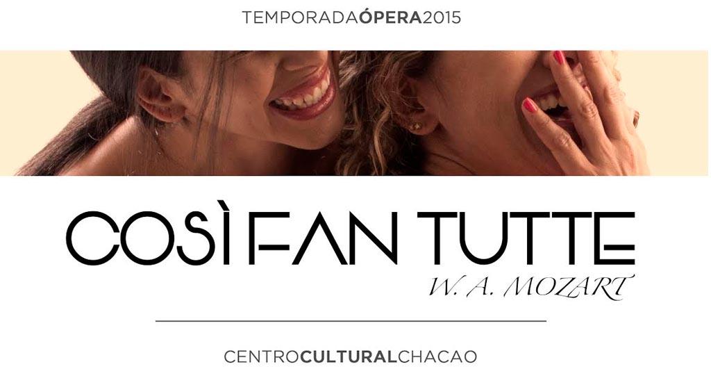 Centro Cultural Chacao abre su segunda temporada de ópera con la obra Cosí fan tutte