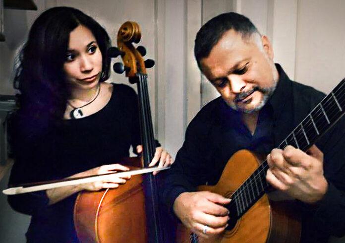 Lino Atacho (guitarra) y Dánae Atacho (cello)