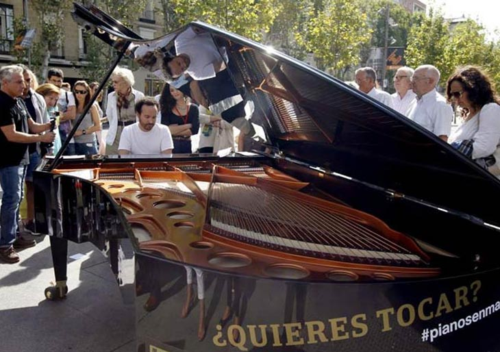 Madrid se llena de pianos 2015, pianos de cola que podrás tocar en plena calle