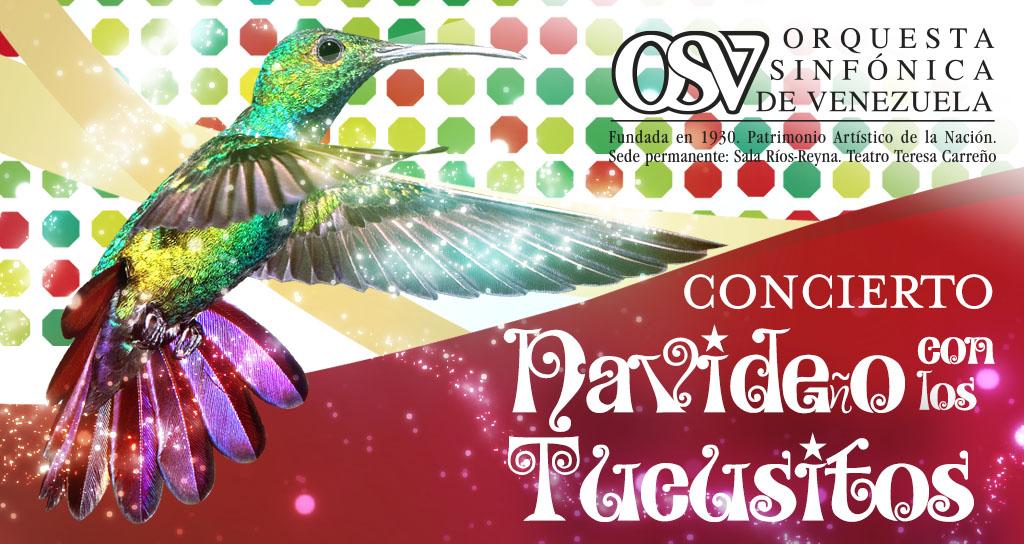 La Sinfónica de Venezuela celebra la navidad junto a los Tucusitos ahora 1 y 2 de diciembre