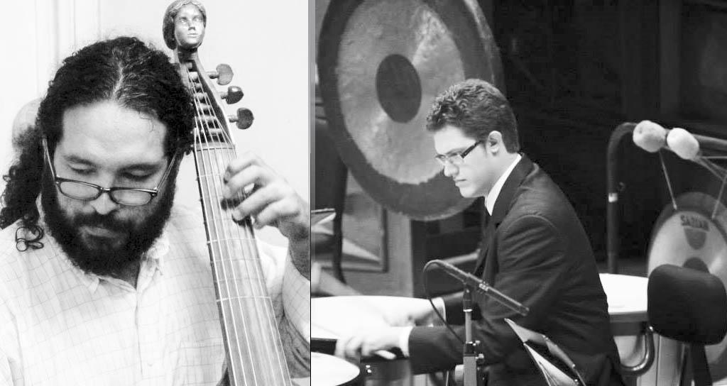Ronald Chirinos (viola da gamba) y Rubén Ramírez (percusión)