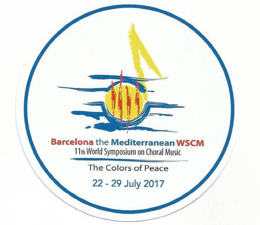 XI Simposium Mundial de Música Coral que se realizará del 22 al 29 de julio de 2017 en Barcelona, España