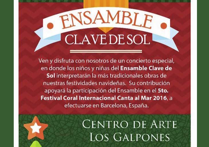 El Ensamble Clave de Sol se presenta en Los Galpones
