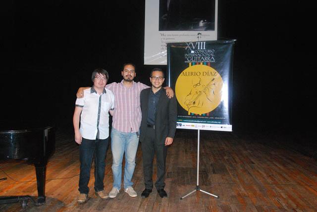 Nicolás Guillen, Álvaro Tejerina y Daniel Petrocelli laureados en el XVIII Concurso Internacional de Guitarra Alirio Díaz