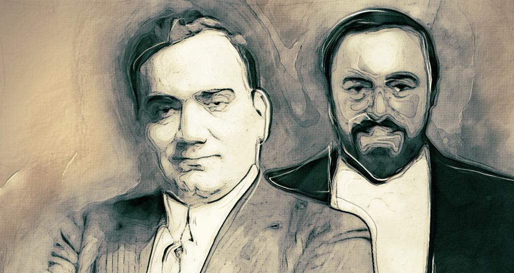 Caruso y Pavarotti, los grandes tenores