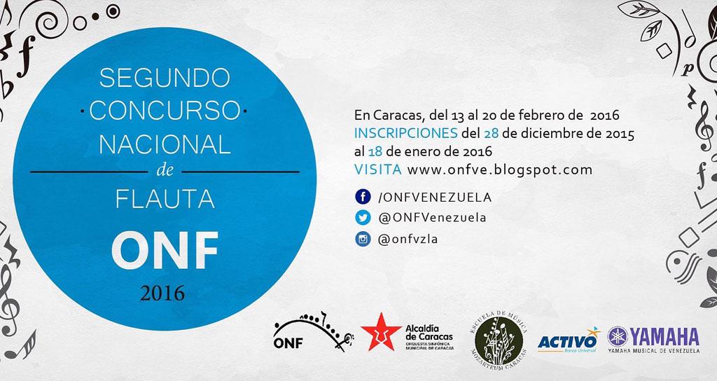 Segundo Concurso Nacional de Flauta 2016 anuncian inscripciones