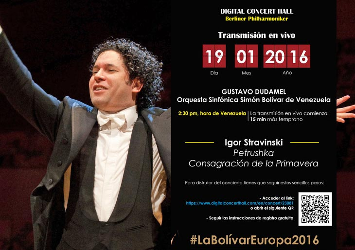 Concierto de la Orquesta Sinfónica Simón Bolívar en la Berliner Philharmonie será transmitido en vivo