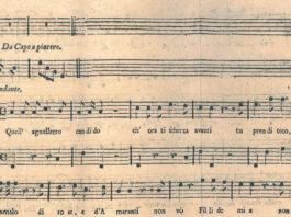 Comienzo de la parte escrita por Mozart del 'lied-cantata'.