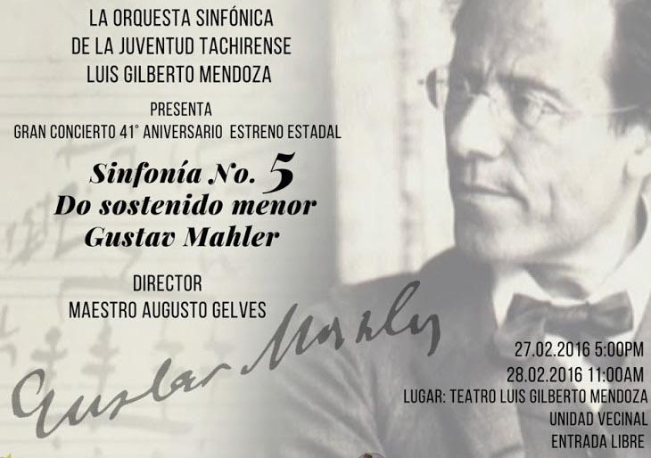 El Sistema Táchira asume el reto de tocar la Quinta de Mahler