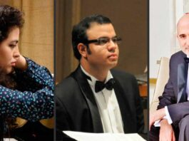Alexia Mouza, Carlos Gutiérrez y Carlos Urbaneja