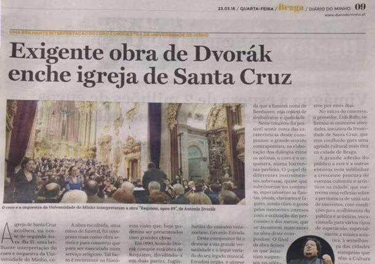 El Requiem de Dvořák estremeció los Templos Portugueses de la mano de Gerardo Estrada