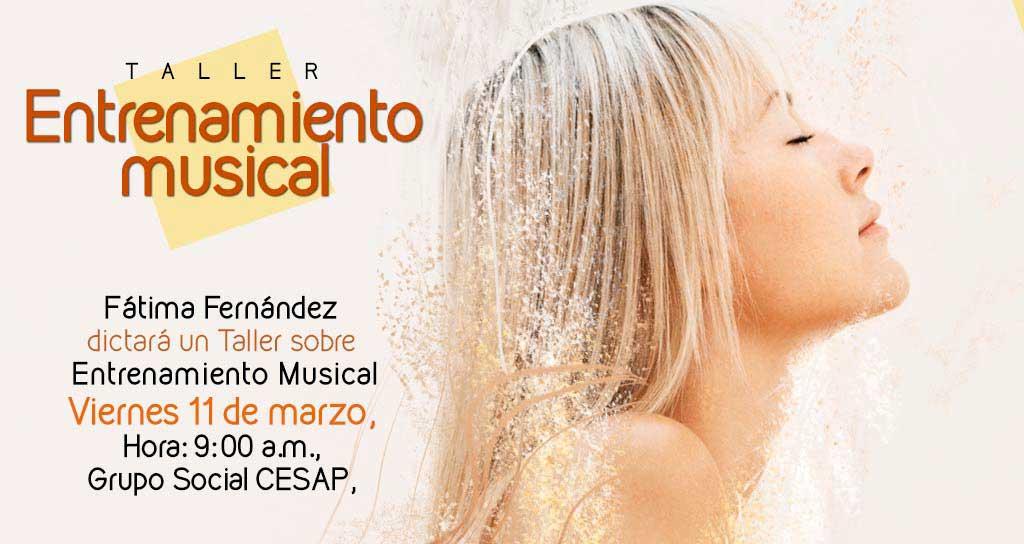 Fátima Fernández ofrece tallerde salud y prevención para músicos