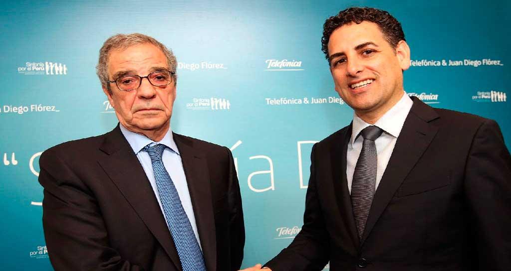 Telefónica y Juan Diego Florez promueven sinfonía digital, tecnología y música