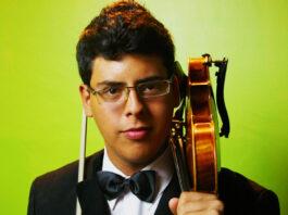 El joven violinista falconiano Alejandro Machado interpretará el concierto para violín y Orquesta en La menor de Dvorak.