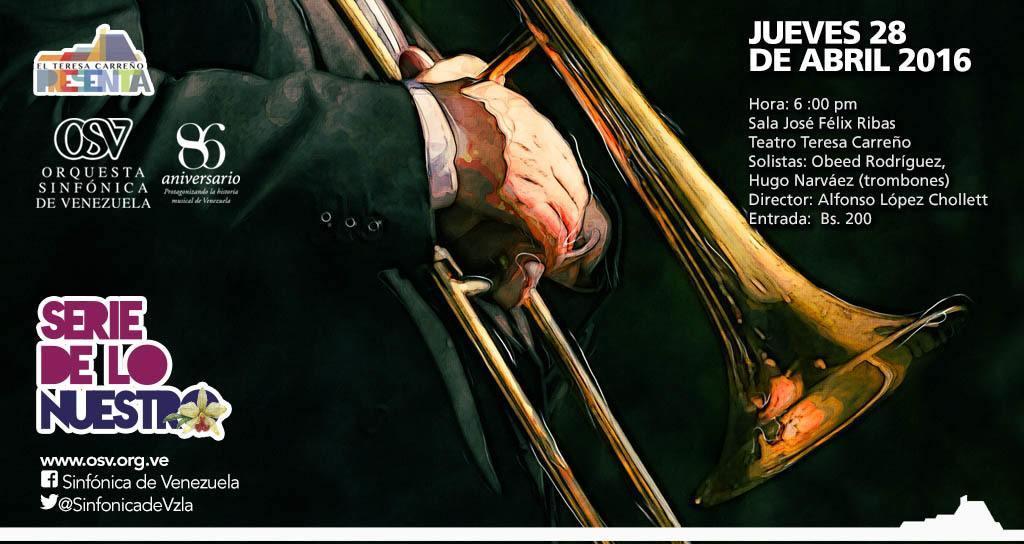 Sinfónica de Venezuela presenta una noche de trombones