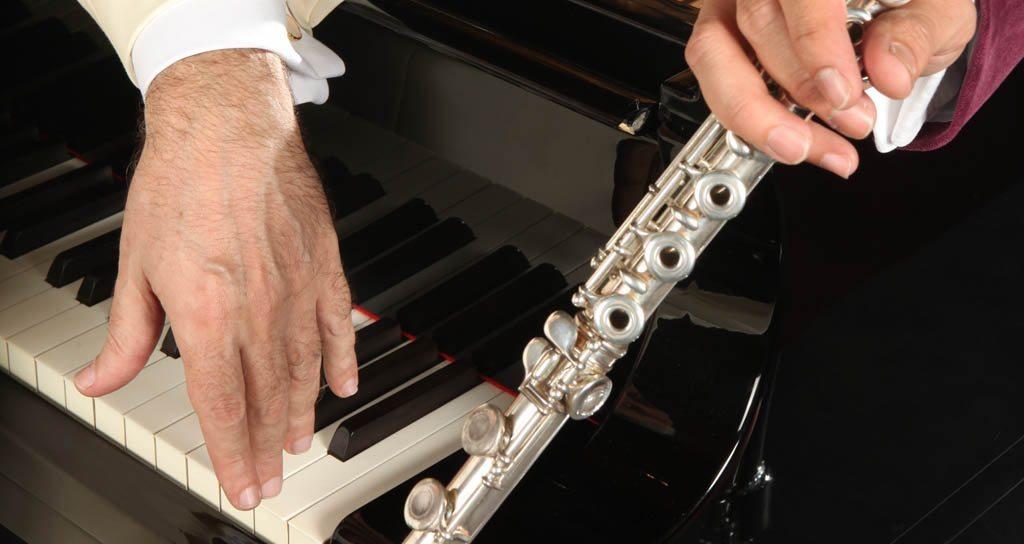 """""""Serenata"""" entre flauta y piano"""