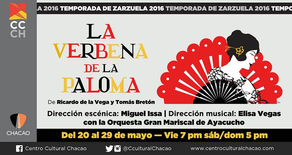 Temporada de Zarzuela 2016 llega al Centro Cultural Chacao