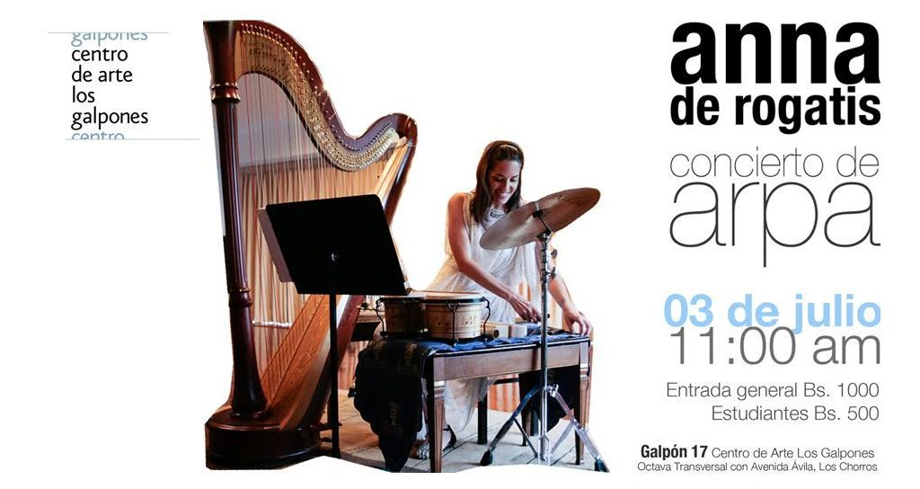 Recital de Arpa Contemporánea con Anna De Rogatis, en Los Galpones