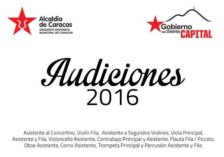 La Sinfónica Municipal de Caracas convoca audiciones para diez instrumentos