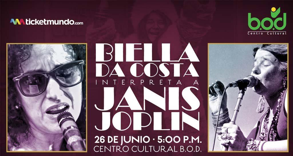 Biella Da Costa interpreta a Janis Joplin en el Centro Cultural BOD