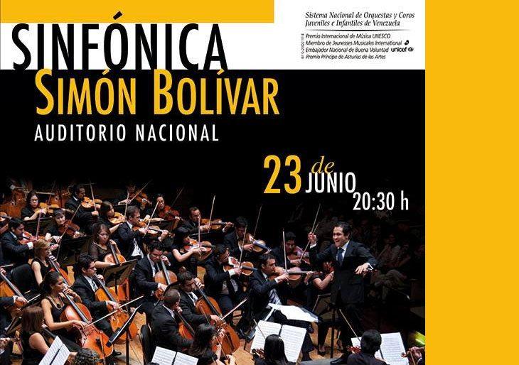 Sinfónica Simón Bolívar complace a mexicanos en el Auditorio Nacional