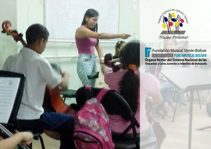 """Debut de la Orquesta Infantil """"B"""" de Porlamar y de su directora"""