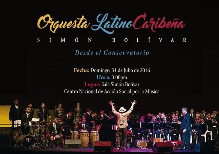 """Orquesta Latinocaribeña Simón Bolívar lanza su primera producción discográfica:  """"Desde el Conservatorio"""""""