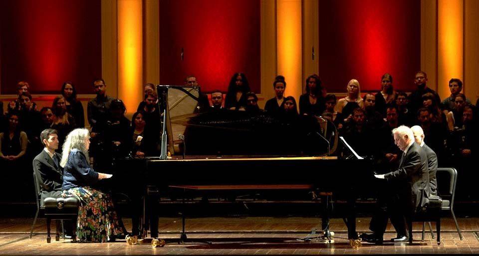 El concierto de Barenboim y Argerich se podrá ver por Internet y en directo