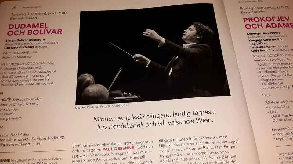 Hoy 1 de septiembre se presenta Dudamel y la Bolívar en Estocolmo en el Baltic Sea Festival