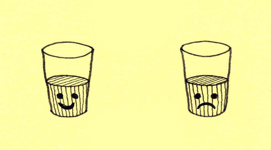 No importa si el vaso está medio lleno o medio vacío, sino si se está llenando