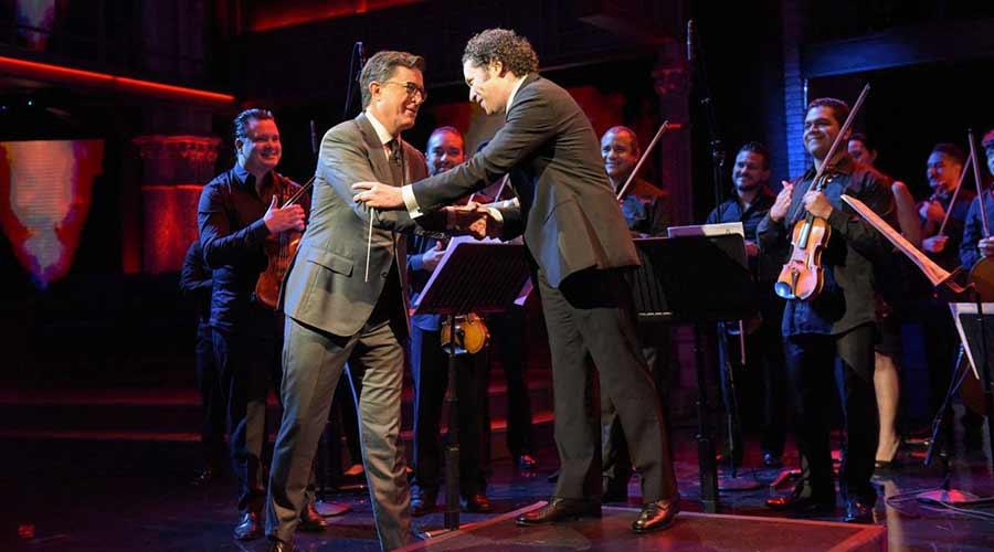 Gustavo Dudamel y la Simón Bolívar interpretan'Fuga con Pajarillo' enThe Late Show